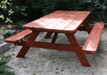 solid wooden cafe tables commonly used in outdoor areas