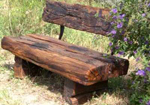 sleeper make a wooden garden seat near Melbourne made from sleepers