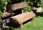 sleeper timber seats for the garden