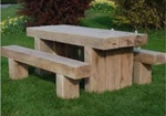 Solid sided picnic tables and seats
