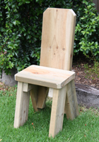 Solid treated pine timber chair