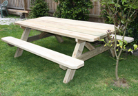 Conventional A frames are the most common outdoor wooden furniture items next to seats