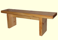 Conventional wooden trestle bench with under bench bracing