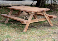 Conventional outdoor cafe table