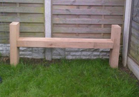 sided bench style timber seat