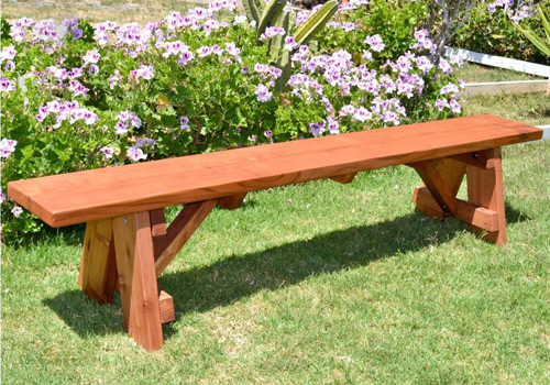 outdoor wooden benches and bench seating for picnic tables