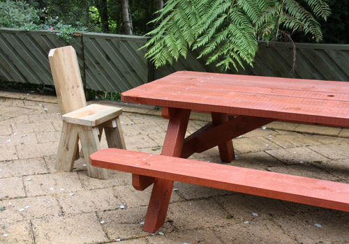 An Ideal Way To Extend The Seating Space Around A Conventional A Frame Picnic Table We Have Designed These To Have The Same Seat Height As Our Bench