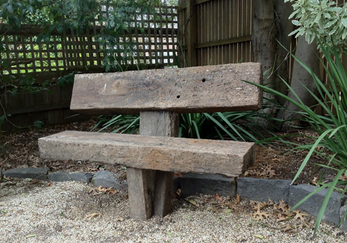 Anchored sleeper garden seat