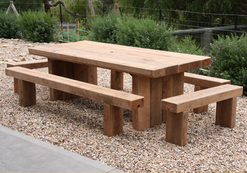 Large Designer Built Outdoor Picnic Table