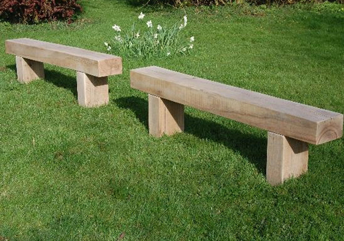 Solid timber garden benches for the outdoors