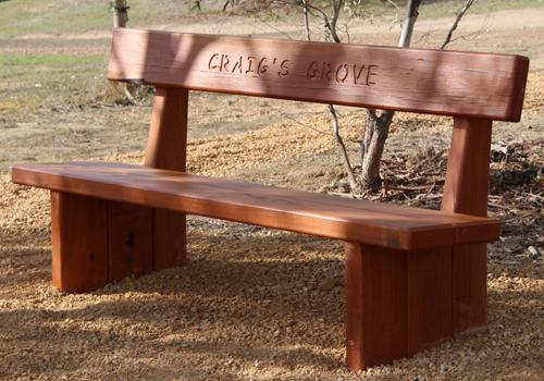 royal timber bench seat