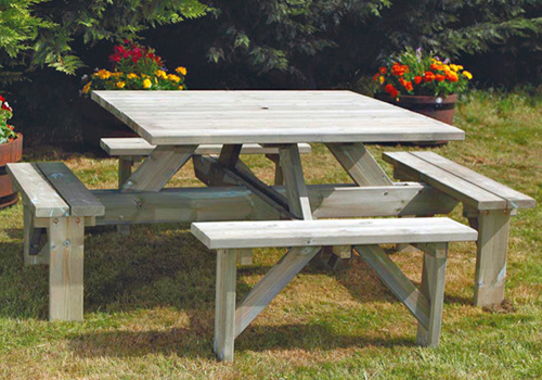These square picnic tables are a robust design and extremely ...