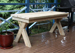 Cross Legged Outdoor Picnic Tables
